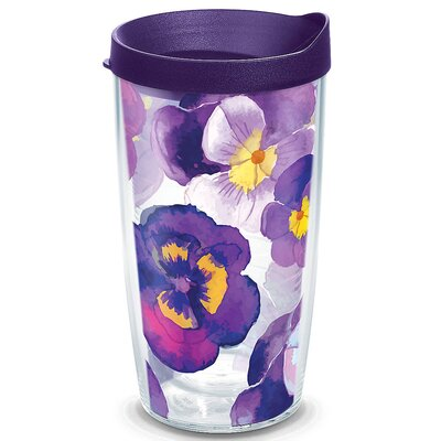Garden Party Watercolor Pansy Insulated Tumbler 1243665