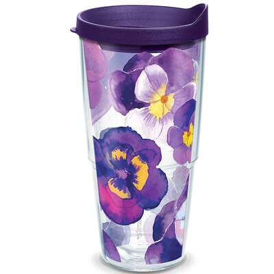 Garden Party Watercolor Pansy Insulated Tumbler 1243668