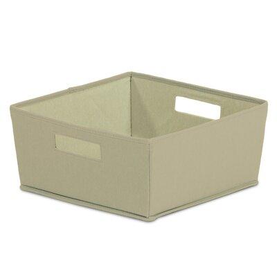 Fabric Half Storage Bin (Set of 4) Color: Tan BIN-3962369375-4