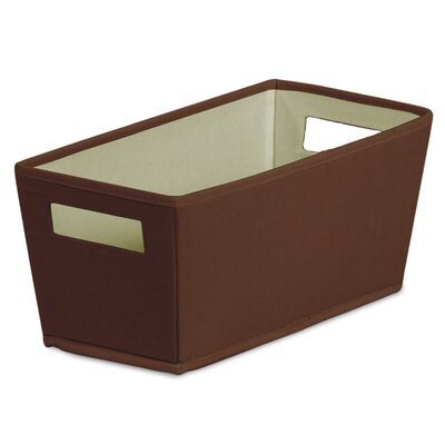 Fabric Quarter Storage Bin (Set of 4) Color: Dark Brown REBR4260 42915124