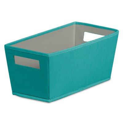 Fabric Quarter Storage Bin (Set of 4) Color: Teal REBR4260 42915121