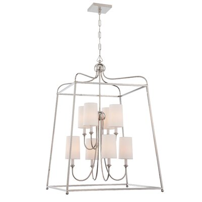 Taraval 8-Light Foyer Pendant Finish: Polished Nickel