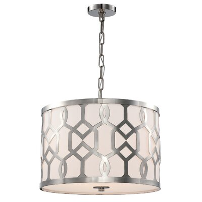 Beckman Contemporary 3-Light Drum Pendant
