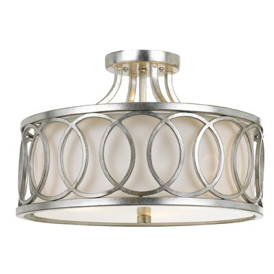 Templeman 3-Light LED Semi-Flush Mount