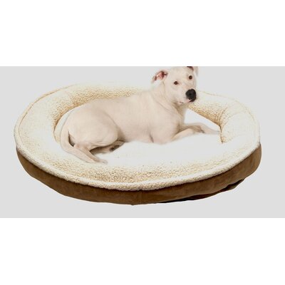 Cloud Sherpa and Faux Suede Comfy Cup Dog Pillow Size: Medium (36 L x 32 W), Color: Spa Blue