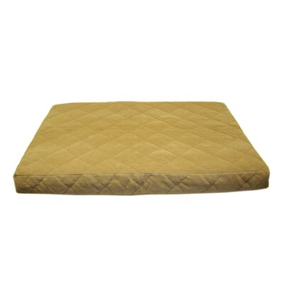 Quilted Orthopedic Dog Pillow with Protector Pad Size: Medium (42 L x 30 W), Color: Chocolate
