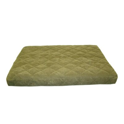 Quilted Orthopedic Dog Bed with Protector Pad in Sage Size: Large (36 x 48)