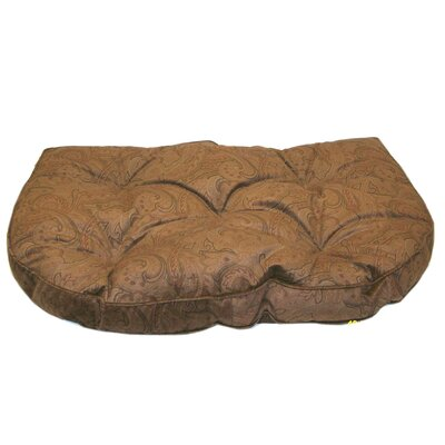 Paisley Microfiber Tufted Hearth Dog Bed in Brown Size: Medium