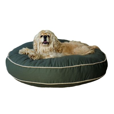 Twill Classic Round Dog Pillow Size: Medium (35 L x 35 W), Color: Blue