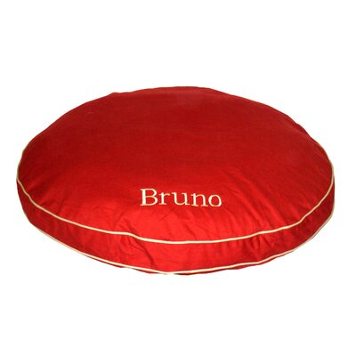 Cornelius Twill Classic Round Dog Pillow Size: Large (42 L x 42 W), Color: Red