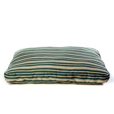 Indoor/Outdoor Striped Dog Bed in Green Size: Large
