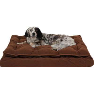 Luxury Pillow Top Mattress Pet Bed in Caramel Size: Medium