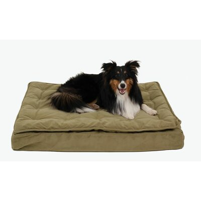 Luxury Pillow Top Mattress Pet Bed in Sage Size: Large