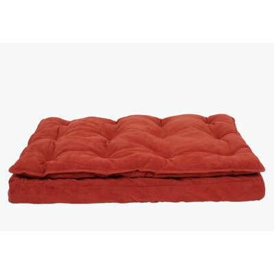 Luxury Pillow Top Mattress Pet Bed in Earth Red Size: X-Large