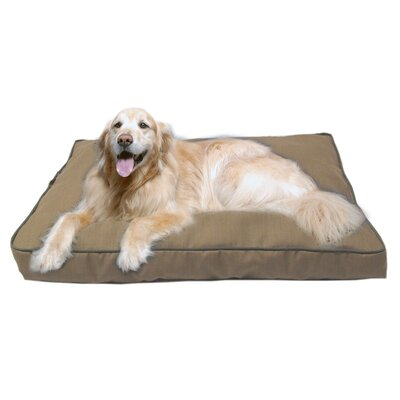 Indoor/Outdoor Dog Bed with Cording in Solid Tan Size: X-Large