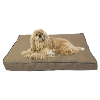 Dane Indoor/Outdoor Dog Bed with Cording in Solid Tan Size: Medium