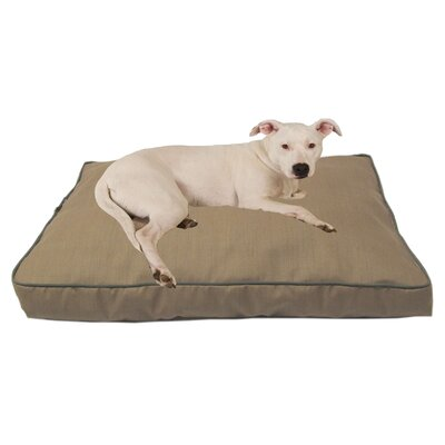 Indoor/Outdoor Dog Bed with Cording in Solid Tan Size: Large