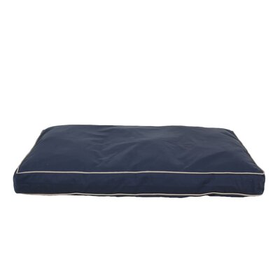 Christopher Classic Twill Rectangular Pet Bed in Red with Khaki Cording Size: Large (30 x 42), Color: Blue