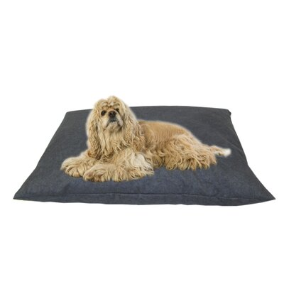 Cleary Indoor/Outdoor Shegang Dog Bed in Solid Blue Size: Medium