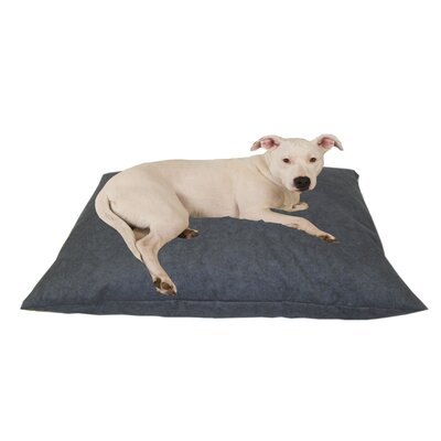 Indoor/Outdoor Shegang Dog Bed in Solid Blue Size: Large