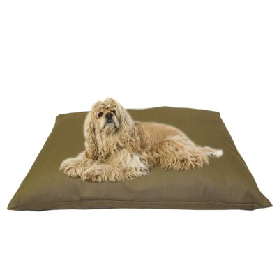 Indoor/Outdoor Shegang Dog Bed in Solid Tan Size: Medium