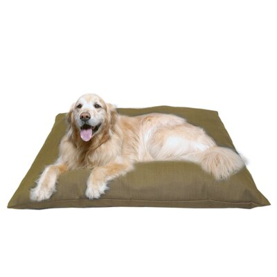 Indoor/Outdoor Shegang Dog Bed in Solid Tan Size: Extra Large