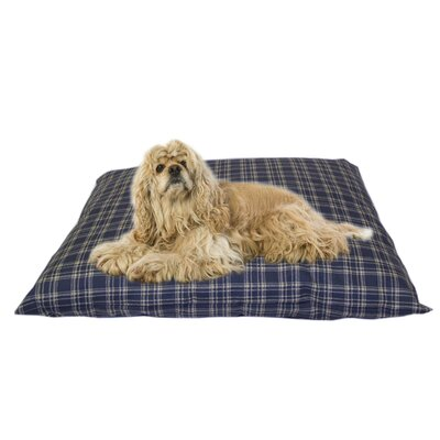 Cheryl Indoor/Outdoor Shegang Dog Bed in Blue Plaid Size: Medium
