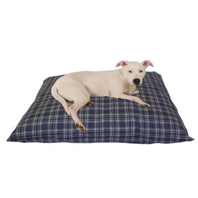 Cheryl Indoor/Outdoor Shegang Dog Bed in Blue Plaid Size: Large