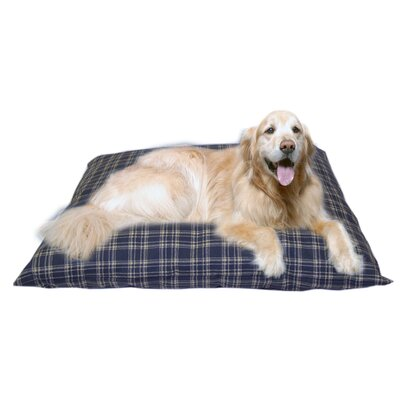 Cheryl Indoor/Outdoor Shegang Dog Bed in Blue Plaid Size: Extra Large