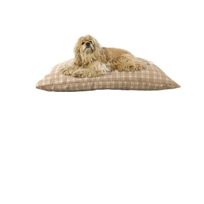 Indoor/Outdoor Shegang Dog Bed in Tan Plaid Size: Large