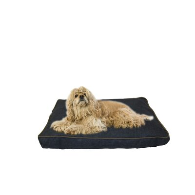 Indoor/Outdoor Dog Bed with Cording in Solid Blue Size: Medium