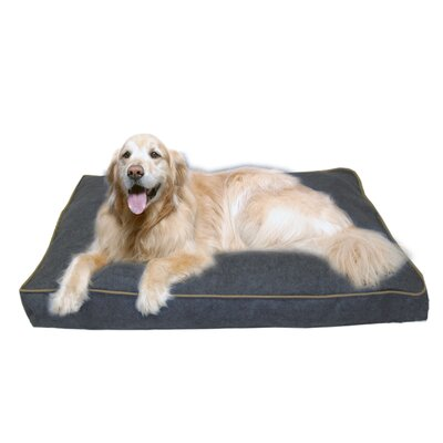 Indoor/Outdoor Dog Bed with Cording in Solid Blue Size: X-Large