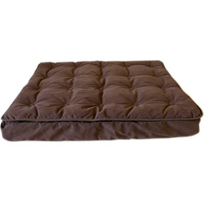 Luxury Pillow Top Mattress Pet Bed in Chocolate Size: X-Large