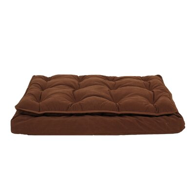 Luxury Pillow Top Mattress Pet Bed in Chocolate Size: Medium