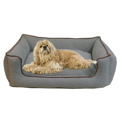 "Low Profile Kuddle Lounge Bolster Dog Bed Size: X-Small (26"" L x 19"" W), Color: Spa Blue"