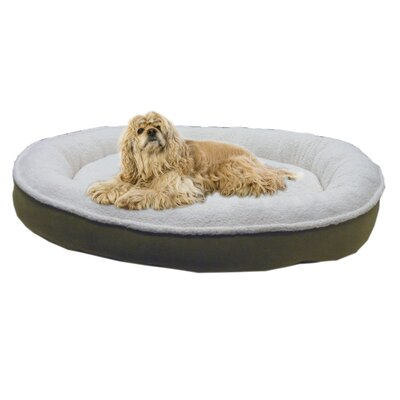 Cloud Sherpa and Faux Suede Comfy Cup Dog Pillow Size: Small (27 L x 24 W), Color: Willow