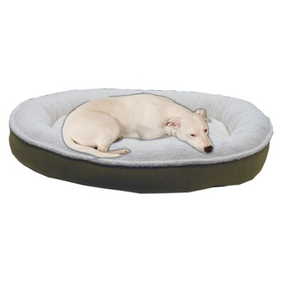 Cloud Sherpa and Faux Suede Comfy Cup Dog Pillow Size: Medium (36 L x 32 W), Color: Willow