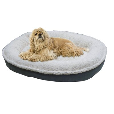 Cloud Sherpa and Faux Suede Comfy Cup Dog Pillow Size: Small (27 L x 24 W), Color: Spa Blue