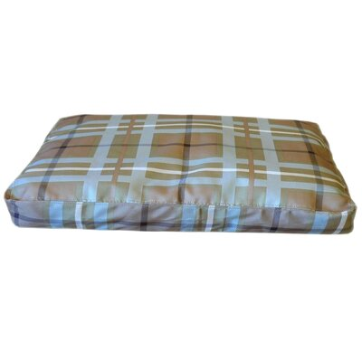Brutus Tuff Saddle Stitch Petnapper Dog Pillow Size: Medium (44 L x 29 W), Color: Blue / Brown Plaid