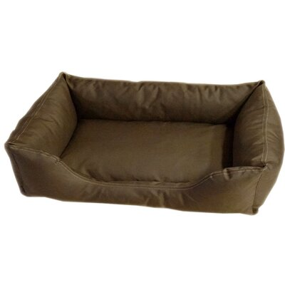 Brutus Tuff Kuddle Lounge Bolster Dog Bed Color: Olive, Size: Extra Large (42 L x 30 W)