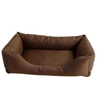 Brutus Tuff Kuddle Lounge Bolster Dog Bed Color: Blue / Brown Plaid, Size: Large (36 L x 27 W)