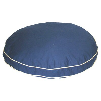 Twill Classic Round Dog Pillow Size: Medium (35 L x 35 W), Color: Blue