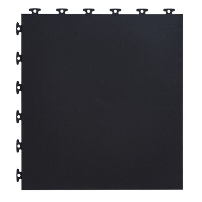 18 x 18  Multi-Purpose Flexible PVC Flat with Texture in Black