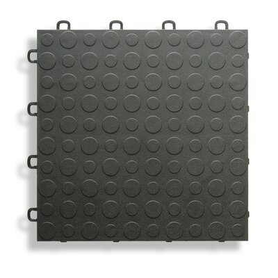 12 x 12  Garage Flooring Tile in Black