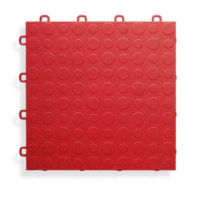 12 x 12  Garage Flooring Tile in Red