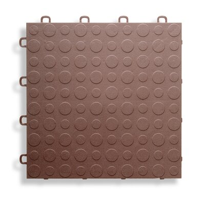 12 x 12  Garage Flooring Tile in Brown