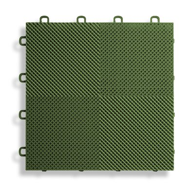 12 x 12  Deck and Patio Flooring Tile in Green