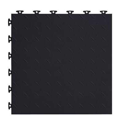 18 x 18  Multi-Purpose Flexible PVC Diamond Pattern in Black