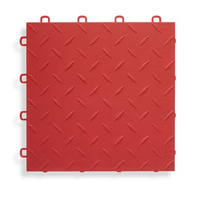 12 x 12  Garage Flooring Tile in Red