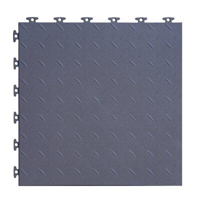 18 x 18  Multi-Purpose Flexible PVC Diamond Pattern in Gray
